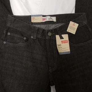 LEVI'S BOYS YOUTH BLACK JEANS NWT
